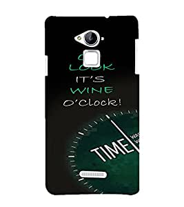 PrintVisa Quotes & Messages Attitude Wine Time 3D Hard Polycarbonate Designer Back Case Cover for Coolpad Note 3