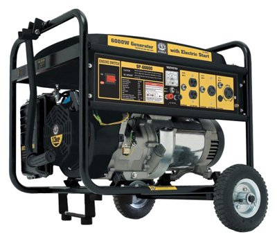 Steele Products SP-GG600C 6,000 Watt 4-Cycle Gas Powered Portable Generator With Wheel Kit (CARB Compliant)
