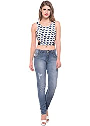 Geometric Print Crop Top