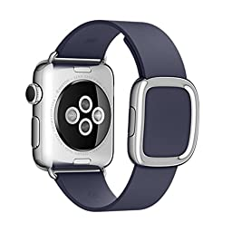ViTech Apple Watch Band, Vitech Original Modern Buckle Genuine Leather Strap Bracelet Wrist Watch Band with Adapter Clasp Replacement band for Apple Watch iwatch, 42mm, Midnight Blue