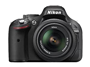 Nikon D5200 SLR-Digitalkamera (24,1 Megapixel, 7,6 cm (3 Zoll) TFT-Display, Full HD, HDMI) Kit inkl. AF-S DX 18-55 mm II Objektiv schwarz