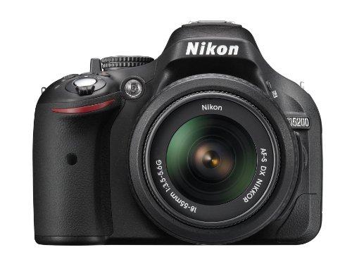Nikon-D5200-Fotocamera-Digitale-SLR-241-Megapixel-Display-TFT-da-76-cm-3-Pollici-Full-HD-HDMI-Kit-incluso-Obiettivo-AF-S-DX-18-55-mm-II-Colore-Nero-Versione-EU