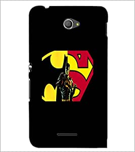 PrintDhaba Superman D-5563 Back Case Cover for SONY XPERIA E4 (Multi-Coloured)