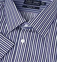 Pure Cotton Easy To Iron Striped Shirt