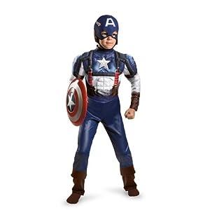 Captain America Movie Classic Muscle Costume - Small (4-6)