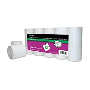 "NCR Thermal POS Grade Calculator Roll,3.12"" x 230ft - 10 / Pack - White"