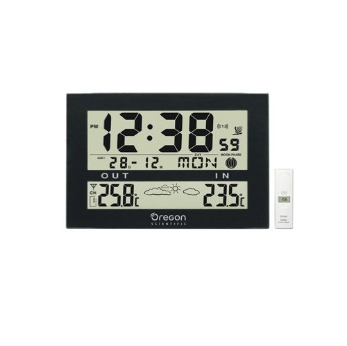 Oregon Scientific JW102 Jumbo Weather Wall Clock RC