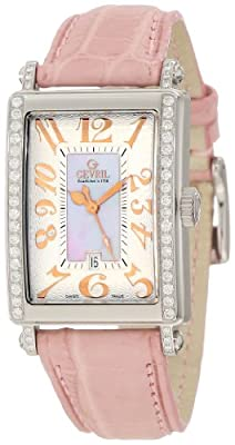 Gevril Women's 7248RE Mini Quartz Avenue of Americas Pink Diamond Watch
