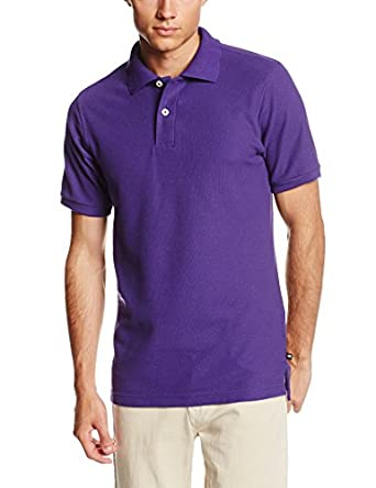 Lee Uniforms Men's Short Sleeve Polo, Purple, Large