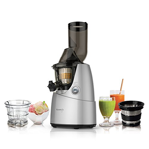 Kuvings Whole Slow Juicer B6000SR Silver, includes Sorbet and Smoothie Strainer Food, Beverages ...