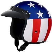 Daytona Captain America D.O.T. Approved 3/4 Shell Cruiser Motorcycle Helmet - Large by Daytona