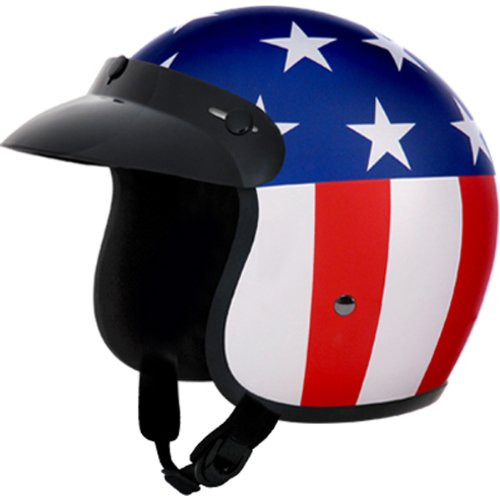 Daytona Captain America D.O.T. Approved 3/4 Shell Cruiser
