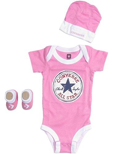 Converse Baby Clothing Set Vintage Allstar (0-6M) Pink, 0 - 6 Months
