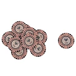 Magideal 45Mm Non Negotiable Light Brown Diamond Clay Casino Chips Worth 100