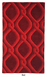 The Rug Republic Cable Hand Tufted Wool Rug