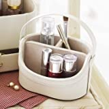 Lakeland Cream Mini Make-Up Caddy with Carry Handle