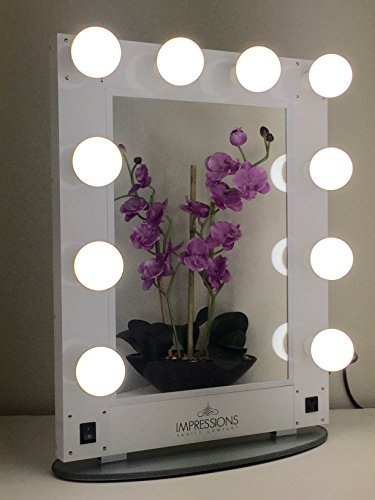 Impressions Vanity KW-GLAM  Hollywood Glam Vanity Mirror with LED Bulbs, White