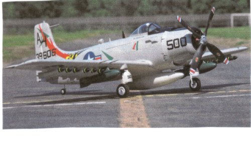 Brand NEW Just Arrived Super Scale & Size Military A1 Skyraider Radio Control Plane