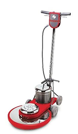 "Sanitaire SC6045B Commercial High Speed Floor Cleaner Machine with Chrome Plated Steel Housings and 1.5 HP Motor, 20"" Brush Size"