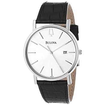 The classic clean look of the Bulova Men's Strap Silver Dial Watch is ideal for a man who is moving up in the world and wants to look good doing it. The white circle dial displays silver stick indices for hours. A sub-dial at three o'clock shows the ...