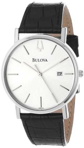 Bulova Men's 96B104 Strap Silver Dial Watch