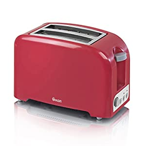 Swan 2 Slice Toaster Red (330665) from Swan