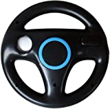 BLACK RACING STEERING WHEEL FOR NINTENDO Wii MARIO KART GAME by GADGET-GEEKS