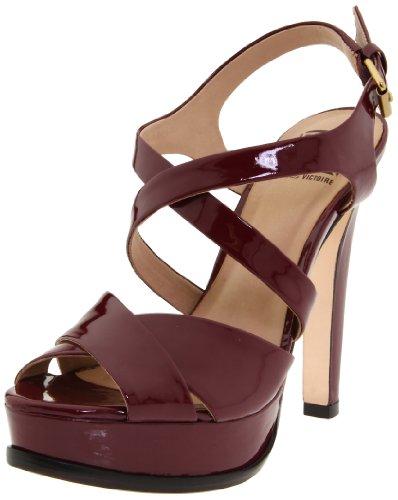 Rev Pour La Victoire Women's Hiro Sandal,Burgundy Patent,10 M US