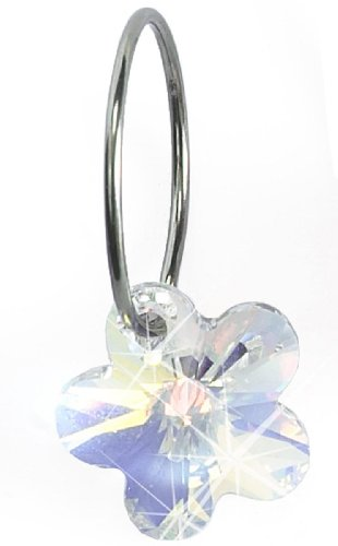 Nickel Free Swarovski Flower Dangle, Rainbow
