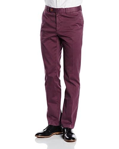 Hackett London Pantalón Rojo Oscuro