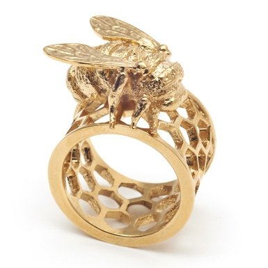 Honeycomb Bee Ring by Bill Skinner (Small)