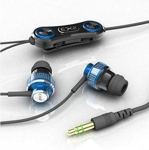 Ex2 204 Bone Conduction Vibration In-Ear Earphones With Swarovski Crystal - Blue