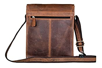 Handolederco Leather Messenger Satchel Laptop Bag for Men's and Women's Leather Satchel Laptop Messenger Unisex Ipad Mini Laptop Bag