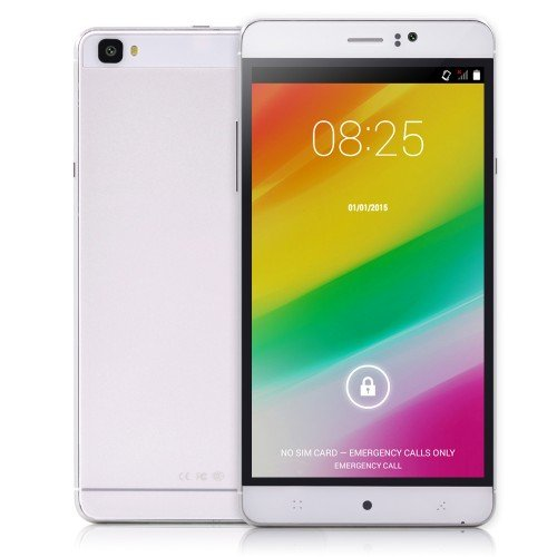 """6"""" Inch Unlocked Android 4.4.2 MTK6572 Dual Nucleus Smartphone 598.0~1203.0MHz RAM 512MB ROM 4GB Unlocked WCDMA GPS QHD IPS 6inch Cell Phones (White)"""