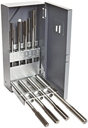 Alvord Polk 127-S-09 High-Speed Steel Chucking Reamer Set, Straight Flute, Uncoated Finish, 15-Piece, 1/16 - 1/2 Inch Sizes in 1/32 Inch Increments