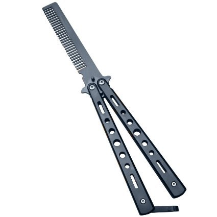 Oliasports ICETEKBCOMB Metal Practice Balisong Butterfly Knife Comb Trainer