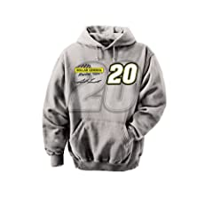 NASCAR Matt Kenseth #20 Dollar General Racing Straight Away Hooded Sweatshirt - Grey by Checkered Flag