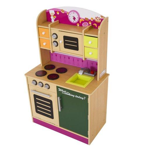 infantastic kdk01 cucina giocattolo per bambini in legno amazon it