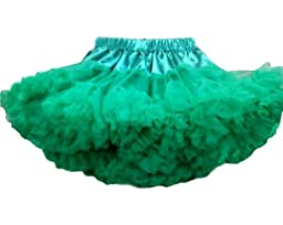 Kubeer 0-9T Girl Kid Tutu Formal Skirt Green Ruffle Ballet Ruffly Petti_Skirts