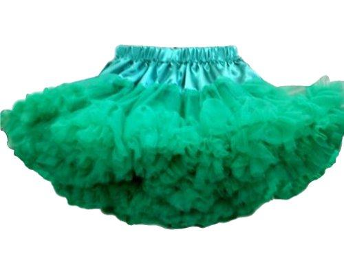 0-9years Baby Girls Tutu Skirt Child Pettis kirts Dance Ball Party Ballet skirts verde 7-9 Anni
