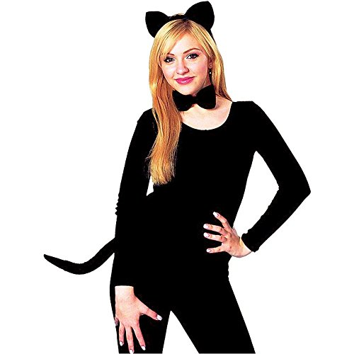 Black Cat Ears & Tail Costume Kit - One Size