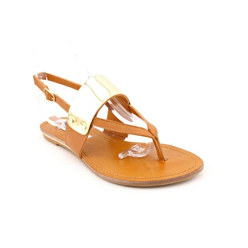 Steve Madden Cufff Open Toe Slingback Sandals Shoes Tan Womens New/Display UK 5.5