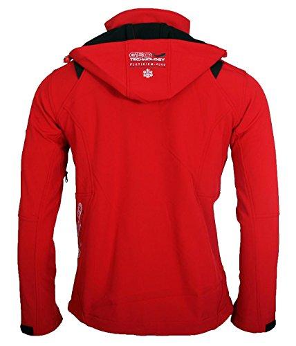 Geographical Norway Herren Softshell Funktions Outdoor Jacke wasserabweisend [GeNo-11-Rot-Gr.S] -