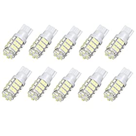 HAMIST T10 3528 42-SMD LED Car Lights Bulb 194 168- White uff08pack of 10uff09