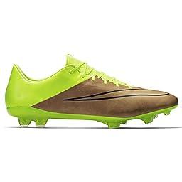 Nike Mercurial Vapor X Tech Craft FG Soccer Cleat (Canvas/Black-Volt Toile/Volt/Noir, 9)