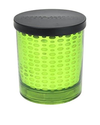 Modern Alchemy Dot Patterned Green Flowering Moss 10-Oz. Candle
