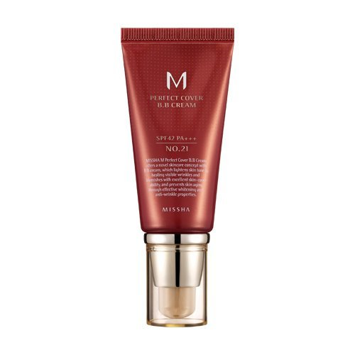 MISSHA M Perfect Cover BB Cream SPF 42 PA Plus # 21, Light Beige