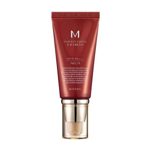MISSHA M Perfect Cover BB Cream SPF 42 PA Plus # 21, Light Beige