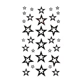 Tattoo Sticker Fashion Sexy Black Five Pointed Star Totem