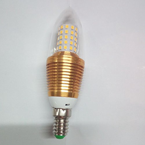 Dngy*candela LED lampadina della luce E14 piccola vite 5W energia cristallo luce 9W Punta in schiuma 60 chip 2835E14 Vite piccola caldo colore guscio in alluminio ,3W Tsim rendendo 8 chip 2835 E14 Vite piccola, oro bianco custodia in alluminio